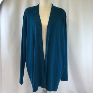 Venezia Lane Bryant Teal Open Cardigan Sweater